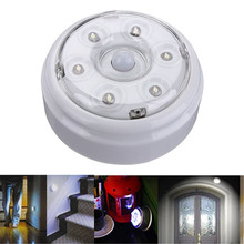 Portable Infrared PIR AUTO Sensor Motion 6 LED Night Light Wireless Detector Lamp Home Door Closet Cabinet Corridor Brightness
