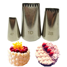 3pcs set Basket Weave Tips Icing Piping Nozzle Tips Stainless Steel Writing Tube Nozzle Baking & Pastry Tools Fondant Cake Decor