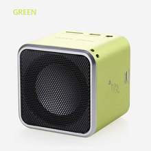 ORIGINAL Music angel Mini Bluetooth 4.0 MD-06BT DIGITAL SPEAKER W/ BUILT IN FM RADIO& SD/TF CARD GREEN