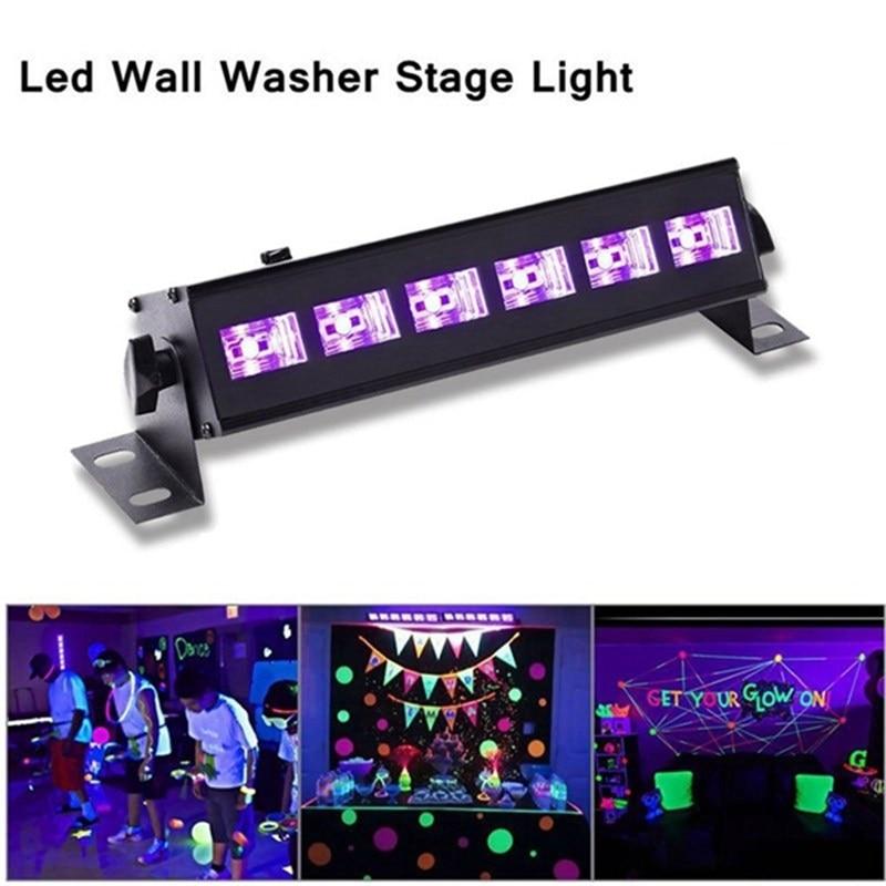 6 LED UV Stage Light Purple Lighting Effect Night Light Wall UV Lamp For DJ Disco KTV Bar Christmas Party Indoor Lighting<br>