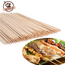 WIILII 80-90 PCS Bamboo Skewers Grill Shish Kabob Wood Sticks Barbecue Cooking BBQ Tools