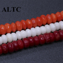 2x4mm 3 colors coral Faceted abacus beads Natural Stone Beads for DIY Jewelry Making Accessories(China)