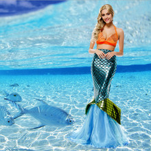 New Adult Sexy Womans Halloween Cosplay Mermaid Costumes Valentine's Day Dress Romantic Beauty Dress Sea Maid Dress(China)