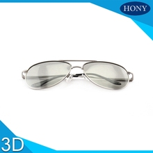 1pcs High Quality Universal Metal Pilot Aviator 3D RealD Circular Glasses for 3D Cinemas&TV, Passive Circular Polarized 3D adult