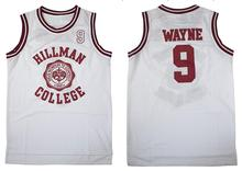Dwayne Wayne 9 Hillman College Theater Basketball Jersey A Different World All Stitched Sewn Retro Movie Jersey Breathable(China)