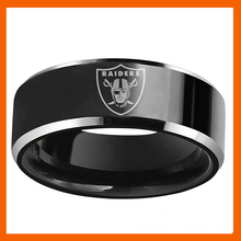 NEW DESIGN OAKLAND RAIDERS FOOTBALL TEAM BLACK 316L STAINLESS STEEL MEN RING JEWELRY(China)