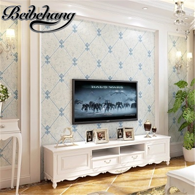 beibehang Simple European 3D Imitation Marble Background Wallpaper Thicker Imitation Leather Strips Lingge Bedside Wall paper<br>
