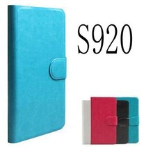 Genuine Luxury Original Flip PU Leather Case Cover For Lenovo S920 Phone Bags +Touch Pen Gift