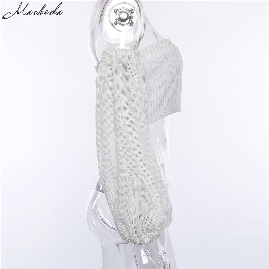 Compre Las Nuevas Mujeres Blancas De Moda Sexy Off Shoulder Crop ...