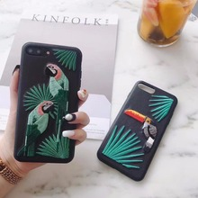 New Arrive! Mobile Phone Case China Classic Embroidery Birds Cover Fashion PU Cortex Case on For 6 6S Case Cover Capa Para