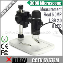 WINMAX Professional USB Digital Microscope Real 5.0MP Image Sensor 300X Magnifier With 8 LED XR012C Measurement+Precise Stand(China)