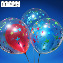 10pcs/lot 12inch Clear Fireworks Star Romantic Balloon Inflatable Transparent Balloon Birthday Wedding Decoration Party Supplies(China)