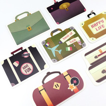 30pcs suitcase travel style memory postcard invitation Greeting Cards gift Christmas postcard & invitation