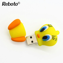Cartoon daffy duck USB flash drive USB 2.0 pen drive 64GB 32GB 16GB 8GB 4GB cute animal  Memory Stick U Disk mini pendrive gift
