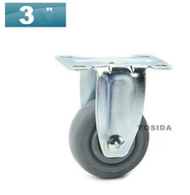"Set of 2 Synthetic Plastic caster 3"" Medical Chair PARTS Without Brake Perfect for Medical Walker/ Furniture/Office Chair"