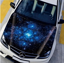 Car Engine Hood Sticker Head Star Night Decal Styling Decor Carbon Vinyl Cover Waterproof Starred Sky Firework Flower