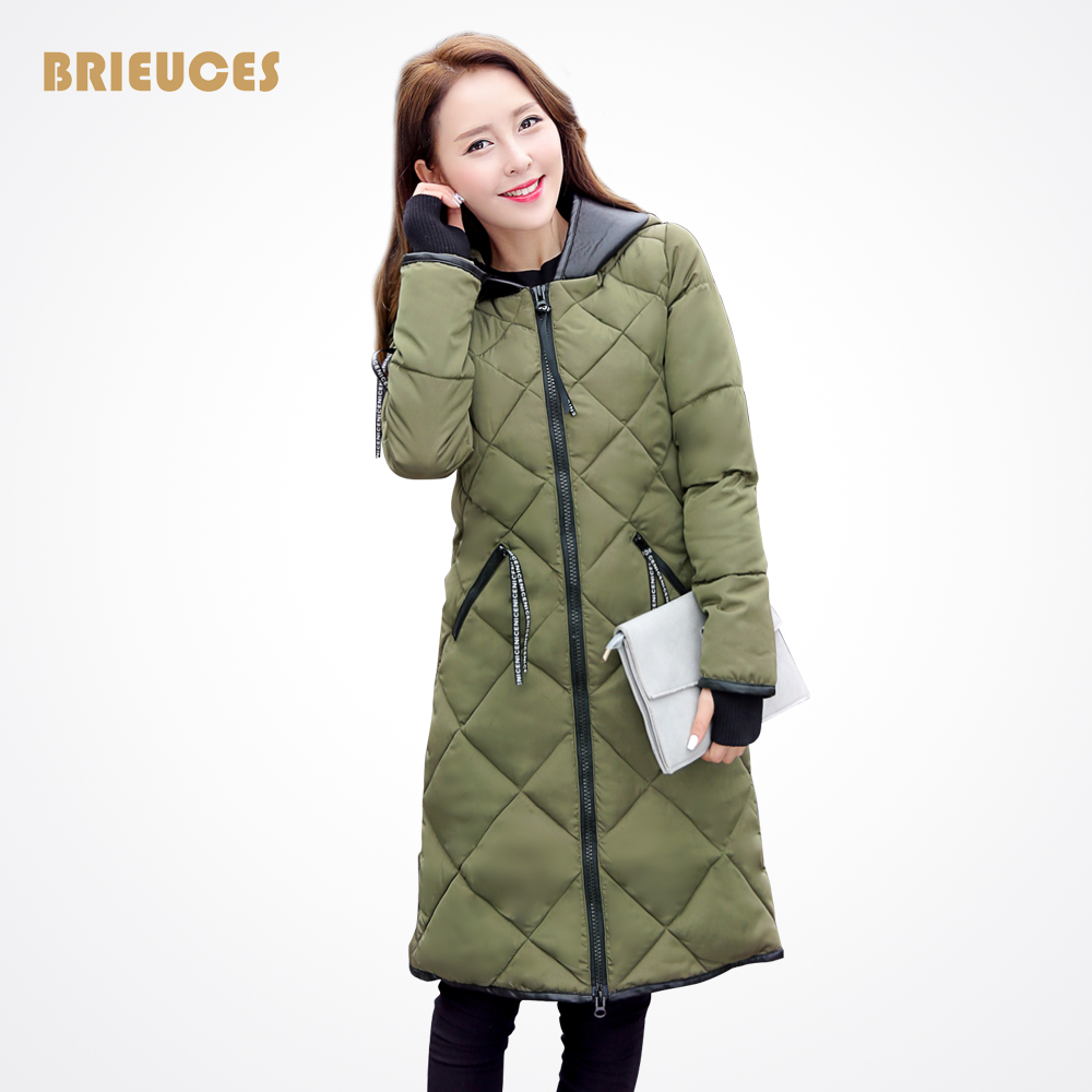 Brieuces New Winter Jacket Women Down Cotton Jacket Parkas Ladies Plus Size PU Leather Hooded Splice Winter Women Coat OutwearÎäåæäà è àêñåññóàðû<br><br>