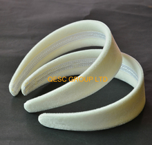 Cream ivory 4cm VELVET Headband for Sinamay Fascinators or hair ornament.