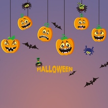 Mirror Window Stickers Halloween Decorations Bar KTV Shopping Mall Static Window Glass Paste Home cartoon decoration 2017 Newest(China)