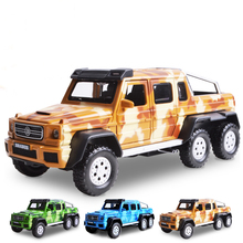 Double Horses 1:32 Hot Sale Children alloy toy car model Mercedes BRABUS AMG 6 x6 boomerang alloy models boy gifts(China)