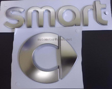 Silver Smart Rear Trunk car emblem Side Badge stickers fortwo FORSPEED FORFOUR ROADSTER FORSTARS Auto accessories