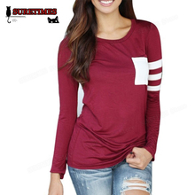 2017 New T-Shirts Women Casual Crochet Pullover Long Sleeve Loose T Shirt Ladies Tops Plus Size S-XXXL Grey Black Red SURETIMES
