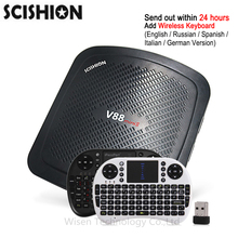 Original SCISHION V88 mini II Smart TV Box RK3229 4 Core Android 6.0 Set Top Box TV 2GB/8GB 4K H.265 Smart Media Player PK X92