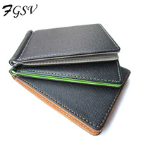 Hot Selling Men Wallet Short Skin Wallets Fashion Synthetic Leather Purses Money Clips Solid Thin Wallet For Men XF002