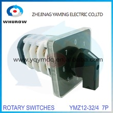 Rotary switch knob 8 position 0-7 YMZ12-32/4 universal manual electrical changeover cam switch 32A 690V 4 section high quality