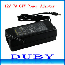 New Universial AC/For DC 12V 7A 84W Power Supply Charger Adaptor For LED Strip Light CCTV Camera Free Shipping