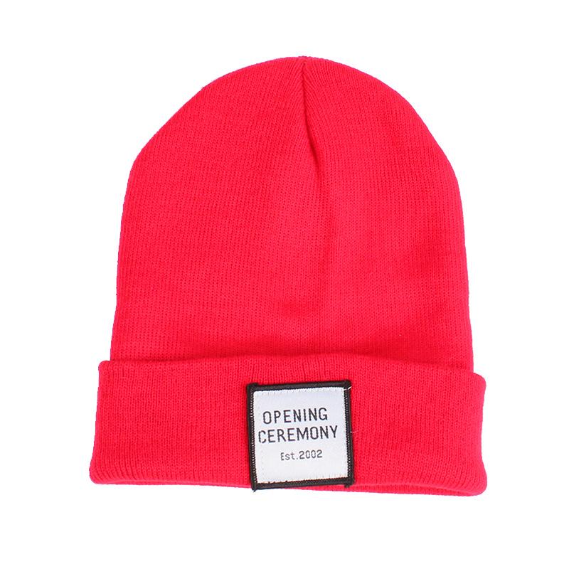 Knitted Cotton Women Beanie Hats Fashion OPENING CEREMONY Women Hats Autumn Winter Warm Female Hat Letter Hip Hop Women Skullies (4)