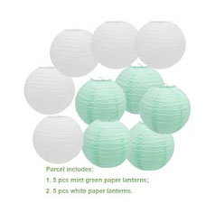 "20 pcs 6""-12"" White Paper Lanterns Chinese Japanese Paper Lanterns for Wedding Party Halloween Hanging Diy Decor Favor 9"
