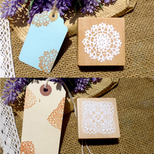 5X5cm New Romantic Lace flower wooden stamp / DIY gift stamp work / square large lace doily wood stamps