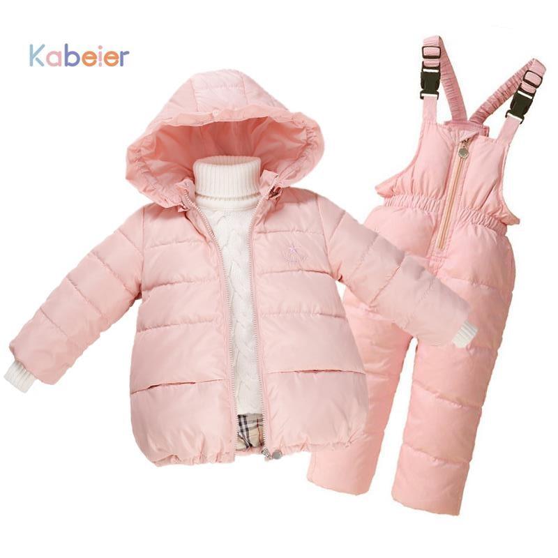 Children Winter Jacket Girls Overalls 2016 Newest Snowsuit Ski Suit Kids Down Warm Coat +Bib Pants Dresses For Girl Snow ClothesОдежда и ак�е��уары<br><br><br>Aliexpress