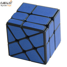 Cube Style 5.7cm Windmill Cube Mirror Block Original Magic Speed Black with Red/Blue Stickres Cubo Magico Professional Puzzle