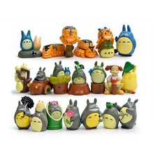 20 Pcs/set New PVC Studio Ghibli Miyazaki Hayao My Neighbor Totoro Blue Totoro Jicha Action Figures Toys Kids Christmas Gifts(China)