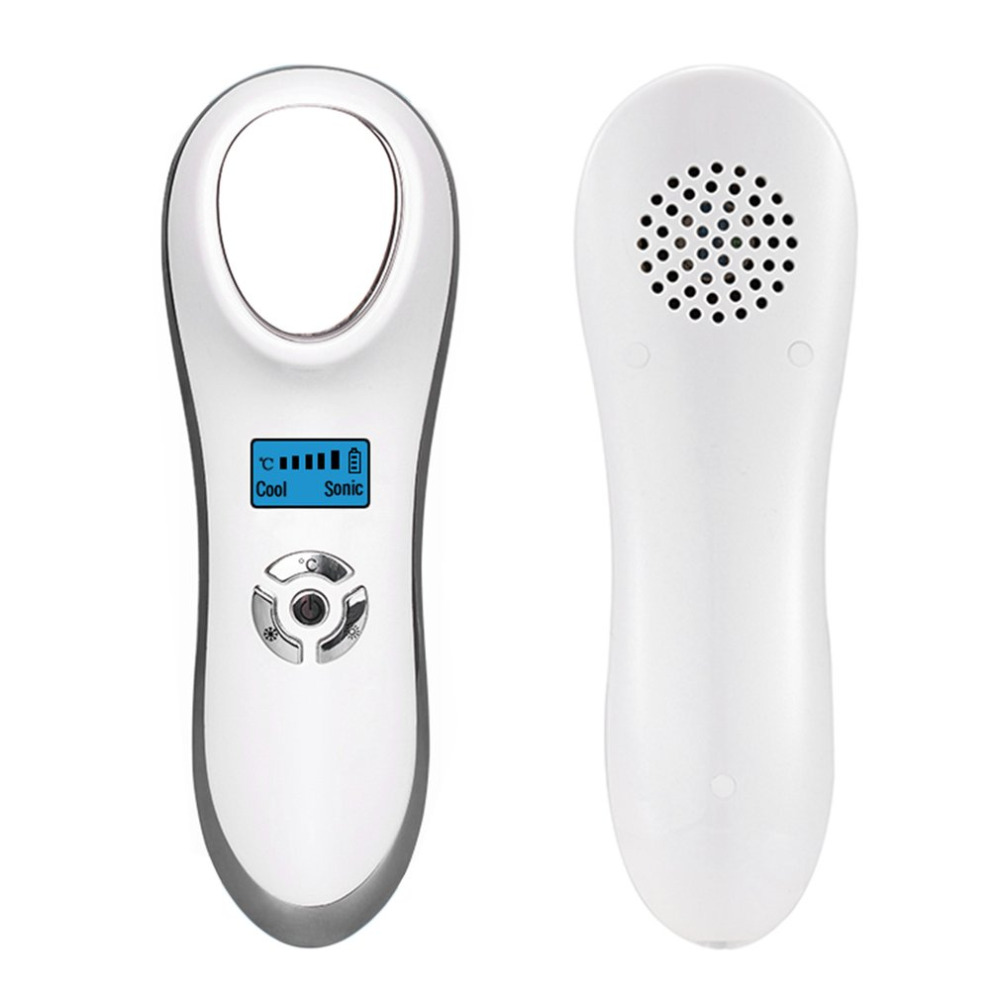 Hot Ultrasonic Cold Firming Face Massage Handheld USB Rechargeable Electric Skin Firming Wrinkle Acne Removal Vibration Massager<br>
