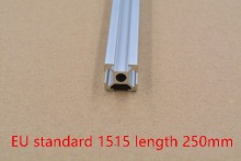 1515 aluminum extrusion profile european standard white length 250mm industrial aluminum profile workbench 1pcs
