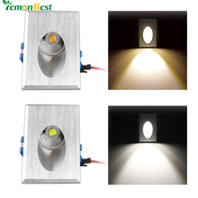 LED Wall Light 3W Rectangle Recessed LED Porch Pathway Step Stair Light Wall Lamp Basement Bulb Cool White Warm White AC 85-265V