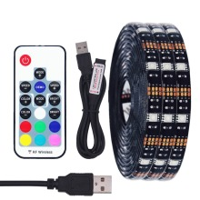 DIY 5050 RGB LED Strip Waterproof DC 5V USB LED Light Strips Flexible Tape 50CM 1M 2M 3M 4M 5M add Remote For TV Background(China)
