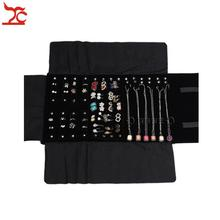 Big Sale Factory Direct Selling Multi-function Velvet Jewelry Display Necklace Ring Earring Storage Case Jewelry Roll Bag(China)