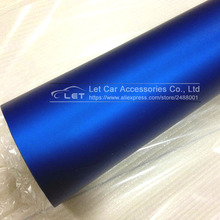 Car styling Blue Metallic Matt Vinyl wrap Car Wrap With Air Bubble Free Chrome blue Matt Film Vehicle Wrapping Sticker Foil