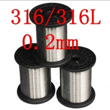 0.2mm,316/316L Soft Stainless Steel Wire,33 gauge/0.2mm SS Seaworthy Thread(China)