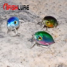 Mini Crank 36mm 3.5g  Fishing Lure Hard Bait Fishing Tackle with BKK Hooks Multicolor Solid fishing lures Balik