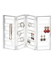 Clear Acrylic Jewelry Display earring holder and jewelry organizer Earring organizer holds up 140 pairs of earrings