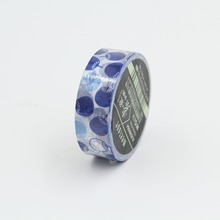 Blue Fans Japanese Washi Paper Masking Tapes Children DIY Decorative Floral Stickers Gift Wrapping Sticker Party Favor
