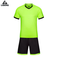 LIDONG New Men Boy girl Kids Soccer Jerseys Sets Survetement football 2017 Kit Sports jersey maillot de foot Shirts DIY Printing(China)