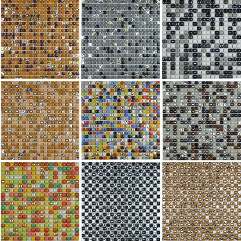 10 colors available colorful mini ceramic mosaic tile for bathroom shower tiles living room wall tile kitchen backsplash tiles in wall stickers from home - Colored Floor Tiles