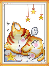 Drift off into slumber cross stitch kit 14ct 11ct count print canvas stitches embroidery DIY handmade needlework plus(China)
