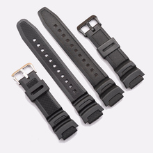 Black Silicone Watch Band Strap Replacement Strap for casio SGW-300H SGW-400H AE-1000w AQ-S810W waterproof Sport Driving Watch(China)